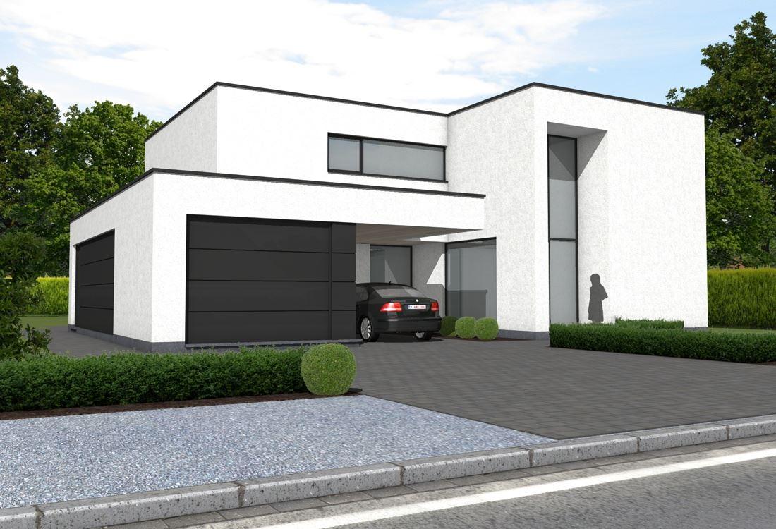 Ara architecten katleen raemen en davy raemenwoning lsch for Moderne laagbouw woningen
